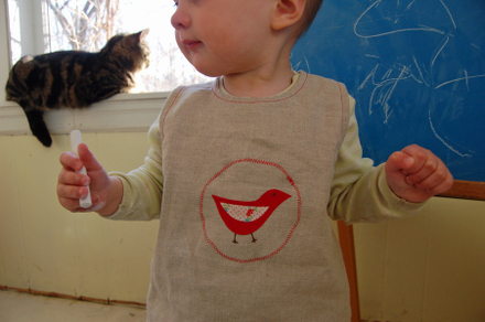Toddler Bib & Smock Pattern | Positively Splendid {Crafts